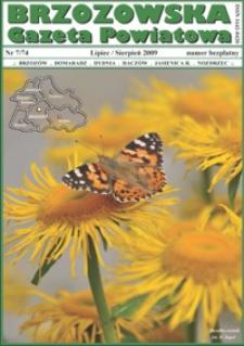Brzozowska Gazeta Powiatowa. 2009, nr 7 (lipiec/sierpień)