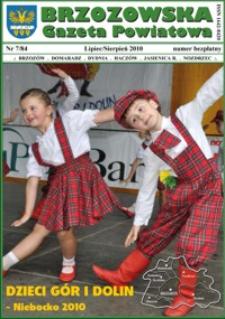Brzozowska Gazeta Powiatowa. 2010, nr 7 (lipiec/sierpień)