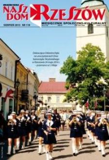 Nasz Dom Rzeszów : miesięcznik społeczno-kulturalny. 2015, R. 11, nr 8 (sierpień)