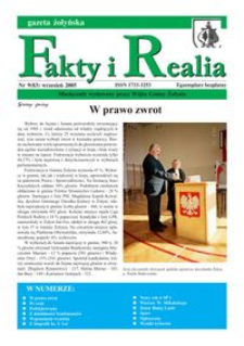 Fakty i Realia : gazeta żołyńska. 2005, nr 9 (wrzesień)