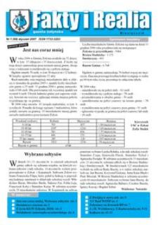 Fakty i Realia : gazeta żołyńska. 2007, nr 1 (styczeń)