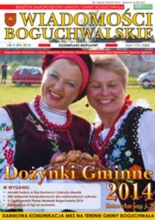 Wiadomości Boguchwalskie : biuletyn samorządowy miasta i gminy Boguchwała : Boguchwała, Kielanówka, Lutoryż [...]. 2014, nr 5