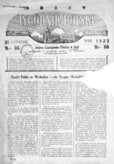 Tygodnik Polski : jedyne czasopismo polskie w Azji. 1923, R. 2, nr 86 (listopad)