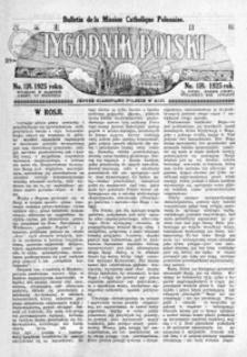Tygodnik Polski : Bulletin de la Mission Catholique Polonaise : jedyne czasopismo polskie w Azji. 1925, R. 4, nr 157-159 (kwiecień)