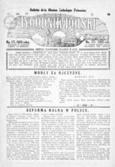 Tygodnik Polski : Bulletin de la Mission Catholique Polonaise : jedyne czasopismo polskie w Azji. 1925, R. 4, nr 174, 177-178 (sierpień)