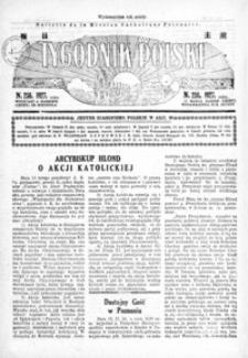 Tygodnik Polski : Bulletin de la Mission Catholique Polonaise : jedyne czasopismo polskie w Azji. 1927, R. 6, nr 255-258 (marzec)