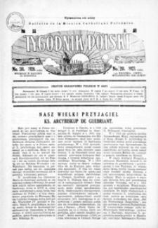Tygodnik Polski : Bulletin de la Mission Catholique Polonaise : jedyne czasopismo polskie w Azji. 1927, R. 6, nr 281-284 (wrzesień)