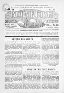 Tygodnik Polski : Bulletin de la Mission Catholique Polonaise : jedyne czasopismo polskie w Azji. 1927, R. 6, nr 290-293 (listopad)