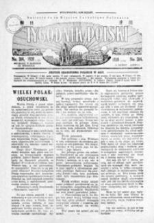 Tygodnik Polski : Bulletin de la Mission Catholique Polonaise : jedyne czasopismo polskie w Azji. 1928, R. 7, nr 303-306 (luty)