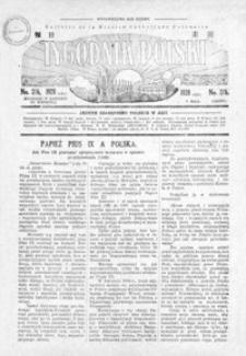 Tygodnik Polski : Bulletin de la Mission Catholique Polonaise : jedyne czasopismo polskie w Azji. 1928, R. 7, nr 316, 318 (maj)