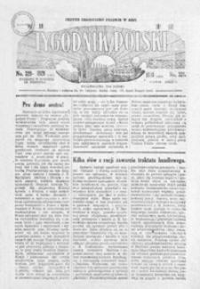 Tygodnik Polski : jedyne czasopismo polskie w Azji. 1928, R. 7, nr 320-324 (lipiec)