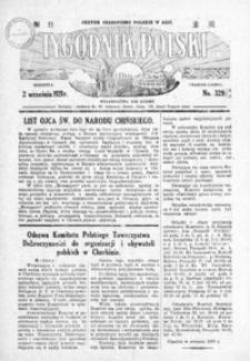 Tygodnik Polski : jedyne czasopismo polskie w Azji. 1928, R. 7, nr 329-333 (wrzesień)
