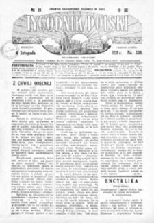 Tygodnik Polski : jedyne czasopismo polskie w Azji. 1928, R. 7, nr 338-341 (listopad)