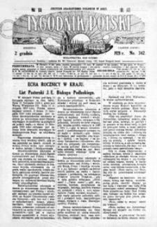 Tygodnik Polski : jedyne czasopismo polskie w Azji. 1928, R. 7, nr 342-345 (grudzień)