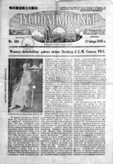 Tygodnik Polski. 1935, R. 13, nr 665-666 (luty)