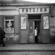 Ul Gałęzowskiego żydowski Salon Fryzjerski Fotografia