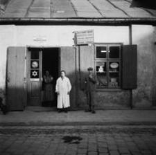 Ul Gałęzowskiego Witryna Sklepu żydowskiego Fotografia