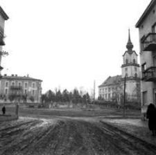 [Skrzyżowanie ul. Hetmańskiej z Pl. Śreniawitów (po prawej Zamek Lubomirskich)] [Fotografia]
