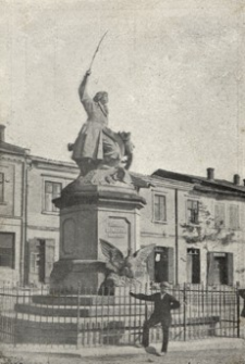 [Tarnobrzeg - Pomnik Bartosza Głowackiego : ze składek z całego kraju zebranych w 1904 r. wzniesiony] [Fotowidokówka z obiegu]