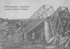 Most zniszczony w Rzeszowie = Zerstörte Brücke in Rzeszów [Pocztówka]