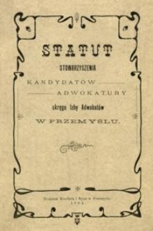Statut Stowarzyszenia Kandydatów Adwokatury okręgu Izby Adwokatów w Przemyślu