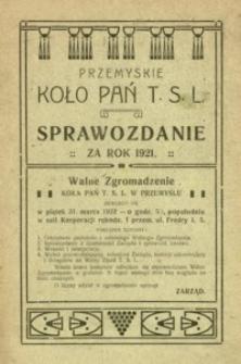 Przemyskie Koło Pań T.S.L. : sprawozdanie za rok 1921