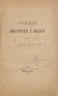 Poezje Onufrego z bajek