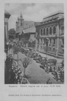 Rzeszów. Odwrót etapów ros. w nocy 11/VI 1915 [Pocztówka]