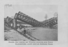 Rzeszów. Most kolejowy nad Wisłokiem zniszczony przez Rosyan = Eisenbahnbrücke, zerstört durch die flüchtenden Russen [Pocztówka]