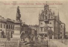 Ržešovˊ: Ratuša i Pamâtnikˊ Kostûški = Rzeszów : Ratusz i pomnik Kościuszki [Pocztówka]