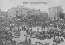 Rzeszów. Nowy rynek w dniu targowym = Rzeszów. Neuer Ringplatz am Markttage [Pocztówka]