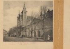 C. K. Gimnazyum. Kościół Popijarski w Rzeszowie. C. K. Starostwo [Pocztówka]