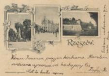 Rzeszów. Pomnik Mickiewicza. Ratusz. Zamek Lubomirskich [Pocztówka]