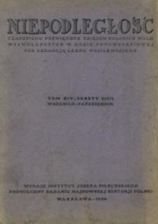 Niepodległość : czasopismo poświęcone dziejom polskich walk wyzwoleńczych w dobie popowstaniowej. T. 14, Z. 2