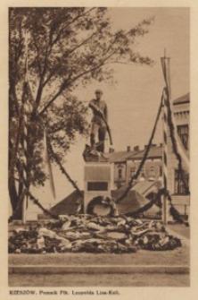 Rzeszów. Pomnik Płk. Leopolda Lisa-Kuli [Pocztówka]