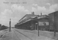 Rzeszów. Dworzec kolejowy - Bahnhof [Pocztówka]