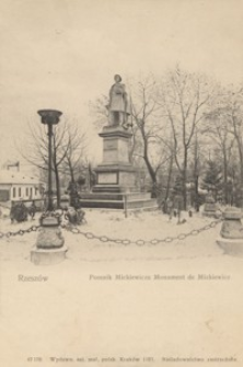 Rzeszów. Pomnik Mickiewicza. Monument de Mickiewicz [Pocztówka]