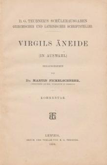 Virgils Äneide : (in Auswahl) : Kommentar / hrsg. von Martin Fickelscherer