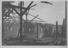 Von den Russen verbrannter Bahnhof in Rzeszów [Pocztówka]
