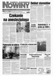 Nowiny : gazeta codzienna. 1998/1999, nr 255, nr 1-20 (grudzień / styczeń)