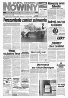 Nowiny : gazeta codzienna. 1999, nr 21-40 (luty)