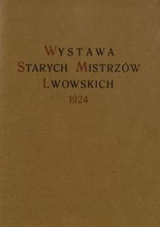 Katalog wystawy starych mistrzów lwowskich