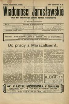 Wiadomości Jarosławskie : organ Koła Jarosławskiego Związku Naprawy Rzeczypospolitej. 1928, R. 1, nr 37 (październik)