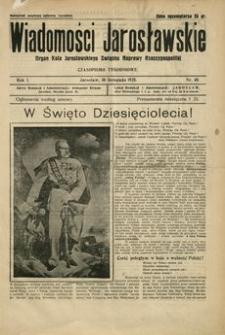 Wiadomości Jarosławskie : organ Koła Jarosławskiego Związku Naprawy Rzeczypospolitej. 1928, R. 1, nr 40 (listopad)