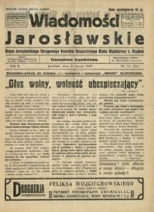 Wiadomości Jarosławskie : organ Jarosławskiego Okręgowego Komitetu Bezpartyjnego Bloku Współpracy z Rządem. 1929, R. 2, nr 12 (marzec)