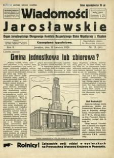 Wiadomości Jarosławskie : organ Jarosławskiego Okręgowego Komitetu Bezpartyjnego Bloku Współpracy z Rządem. 1929, R. 2, nr 17 (kwiecień)