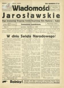 Wiadomości Jarosławskie : organ Jarosławskiego Okręgowego Komitetu Bezpartyjnego Bloku Współpracy z Rządem. 1929, R. 2, nr 18 (maj)