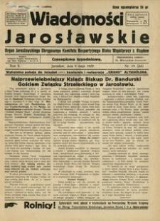 Wiadomości Jarosławskie : organ Jarosławskiego Okręgowego Komitetu Bezpartyjnego Bloku Współpracy z Rządem. 1929, R. 2, nr 19 (maj)