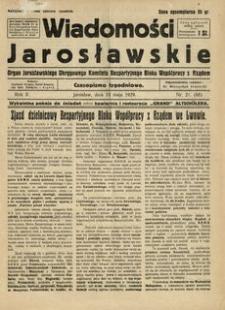 Wiadomości Jarosławskie : organ Jarosławskiego Okręgowego Komitetu Bezpartyjnego Bloku Współpracy z Rządem. 1929, R. 2, nr 21 (maj)