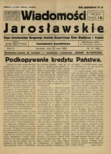 Wiadomości Jarosławskie : organ Jarosławskiego Okręgowego Komitetu Bezpartyjnego Bloku Współpracy z Rządem. 1929, R. 2, nr 22 (maj)